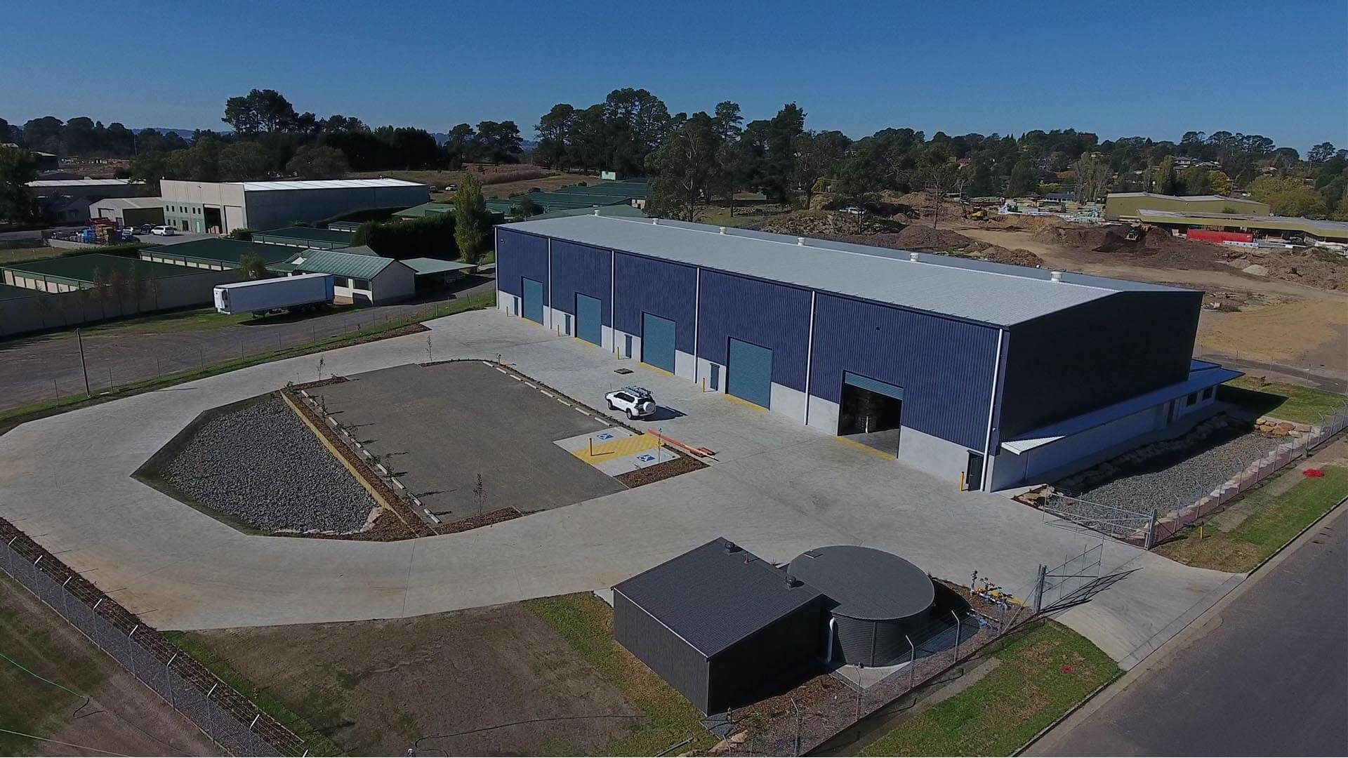 Vale Road Shed commercial construction project completed by Dobsonei